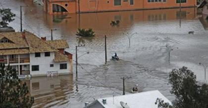 Foto de Rio Negrinho (SC), identificada no perfil de Gleisi como sendo de cidade no Paraná